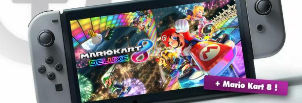 La Nouvelle Nintendo Switch + Mario Kart 8 Deluxe à gagner