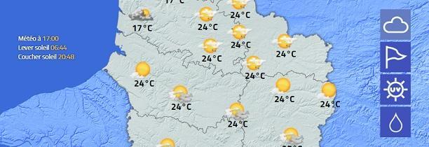 Voici le temps de ce week-end dans les Hauts de France  Soleil et Orages    AGATE METEO