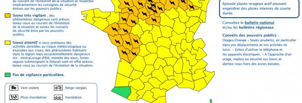 URGENT  Alerte Orange Orages des 17h sur le Nord Pas de Calais