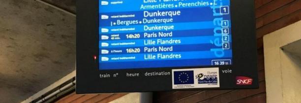 Un piéton percuté ,plus de train entre Hazebrouck et Dunkerque en ce moment