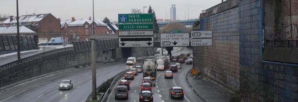 TRAVAUX A25 LILLE:fermeture des bretelles des échangeurs n°4 et 5  Communes de Hallennes les Haubourdin, Haubourdin, Sequedin, Loos les Lille et Lille