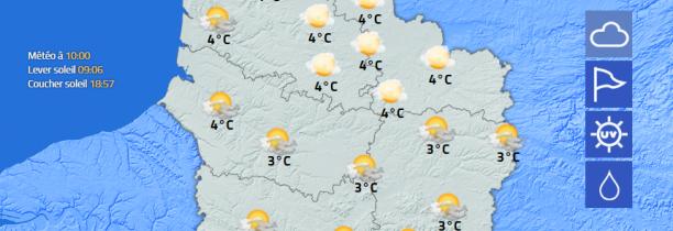 La météo du Mercredi 13 Février